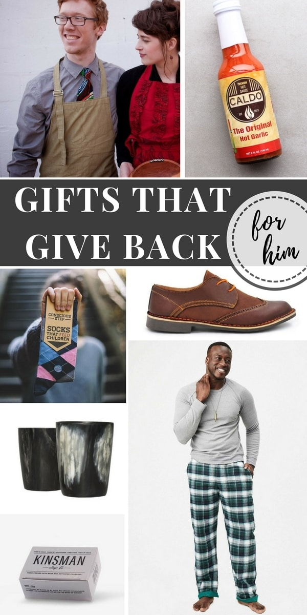 These unique gifts that give back are perfect for the men in your life. Find something special while also supporting families and community throughout the world.