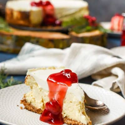 This Sour Cream Cheesecake has a wonderfully light, whipped texture and rich flavor. It's the perfect dessert for any occasion!