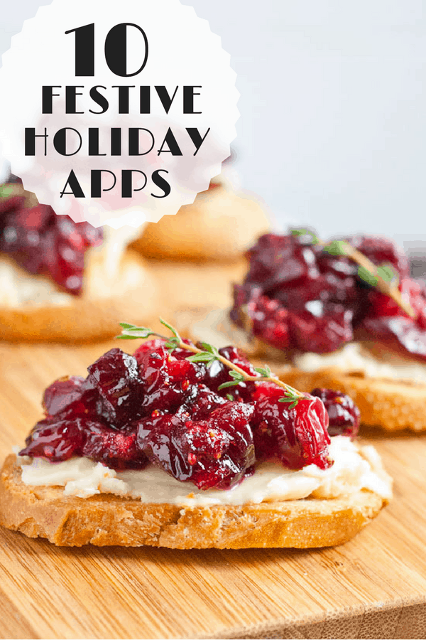 These festive holiday appetizers are perfect for parties, pre-Christmas dinner munching, and New Year's Eve toasts!