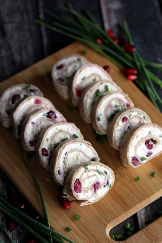 Pomegranate and Feta Pinwheels