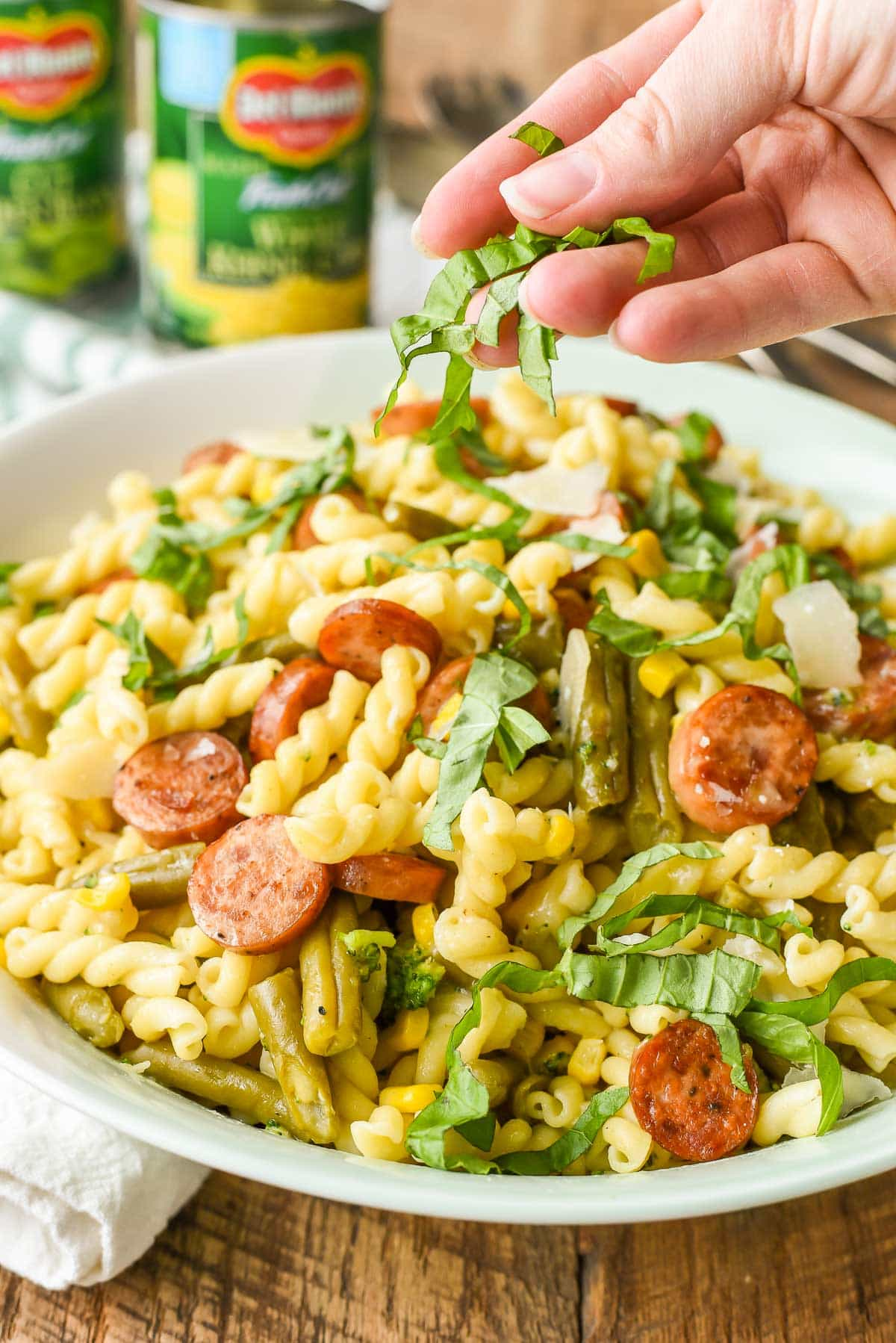 Easy Parmesan Pasta with Chicken Sausage and Veggies made in under 30 minutes!