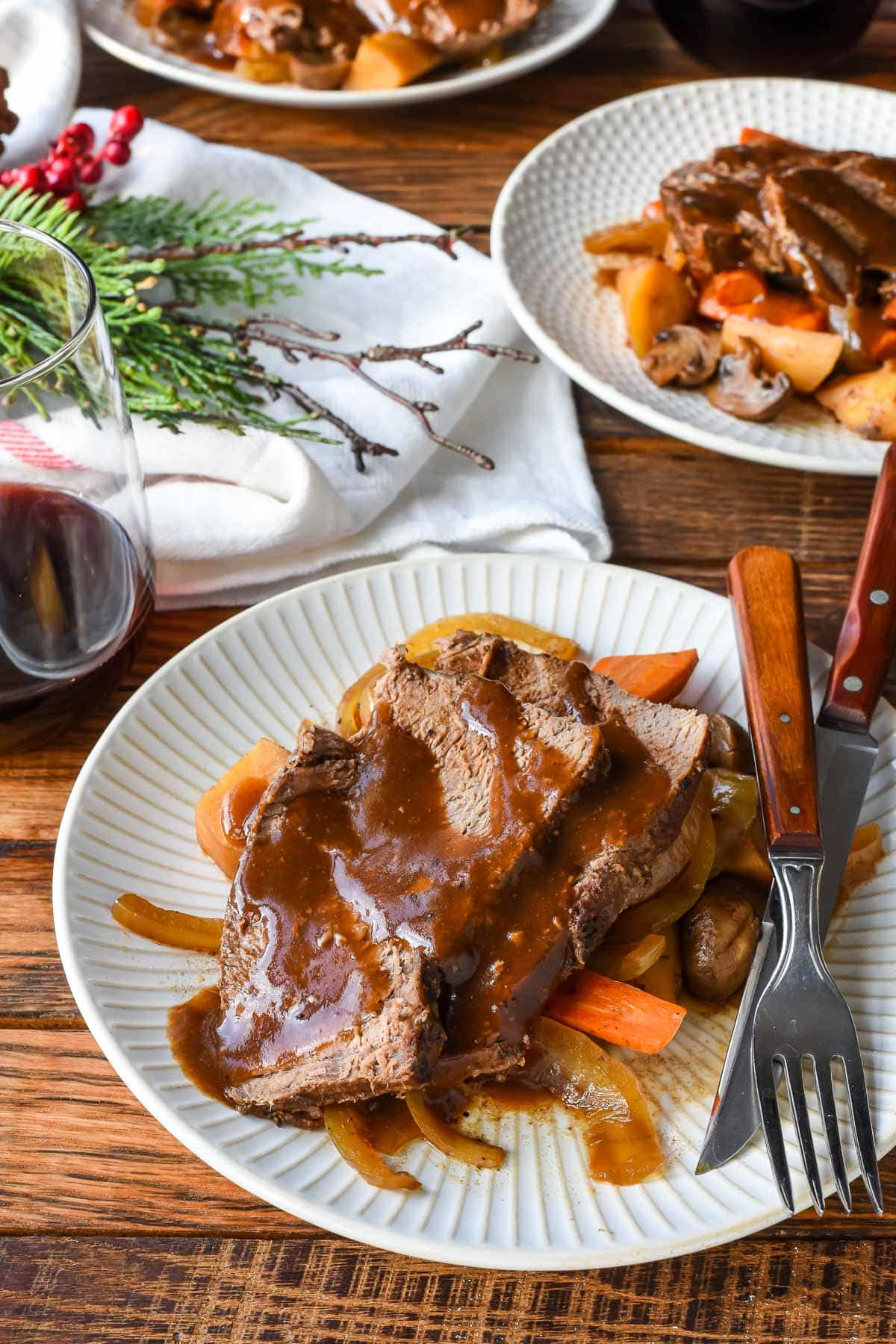 This rich and tangy Slow Cooker Balsamic Roast is a simple but gorgeous meal for any occasion.