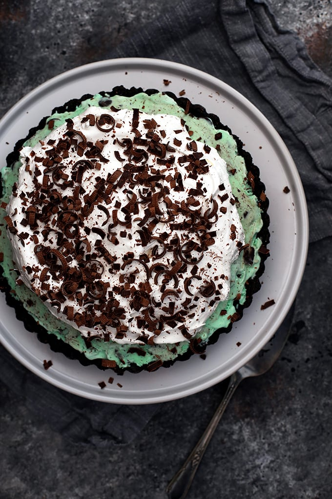 Grasshopper Ice Cream Tart