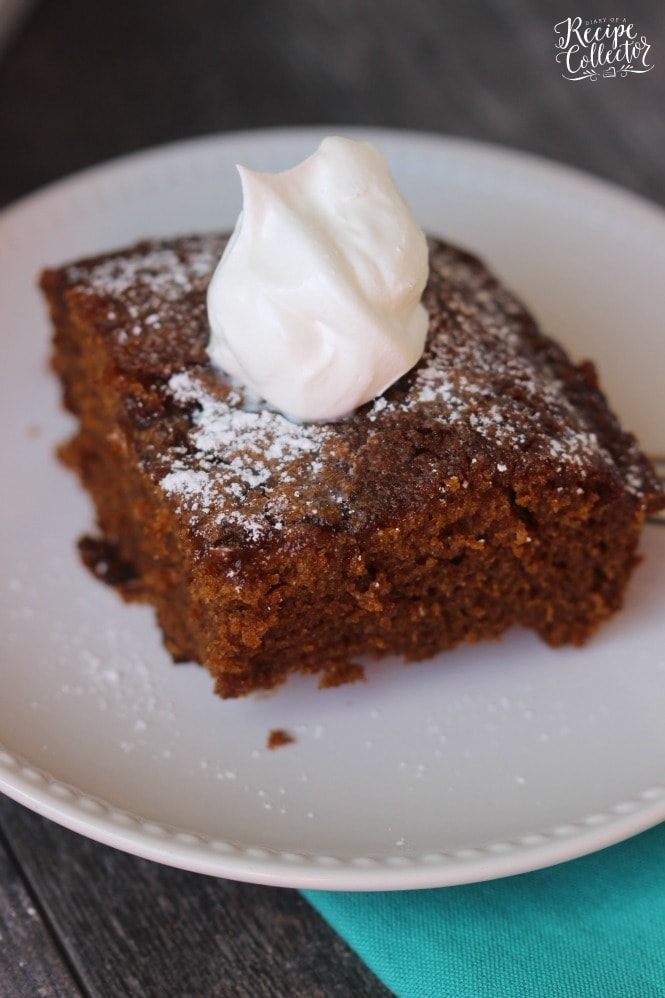 Old Fashioned Syrup Cake