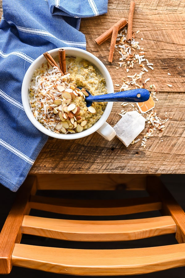 Start your day off right with a warm Chai Quinoa Breakfast Bowl.