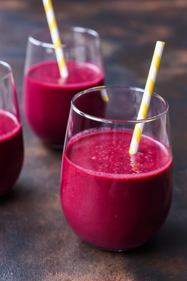 This Cherry Beet Smoothie recipe is an awesome way to jump start your day with veggies, fruits, and loads of vitamins.