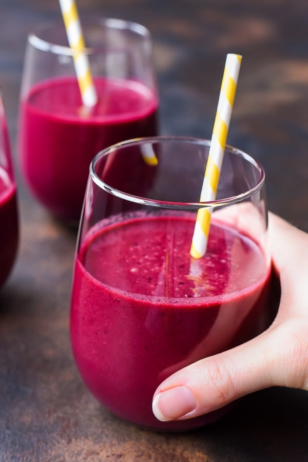 Start your morning with this Power Cherry Beet Smoothie recipe that's packed with vitamins and minerals and tastes awesome!