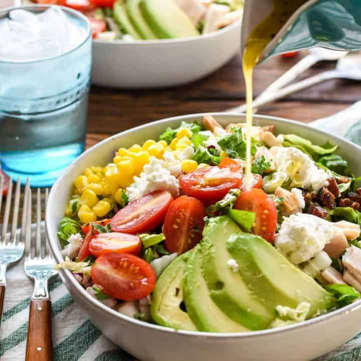 Say goodbye to boring salads and HELLO to this incredible Chopped Salad with Dates, Goat Cheese, and Avocado.