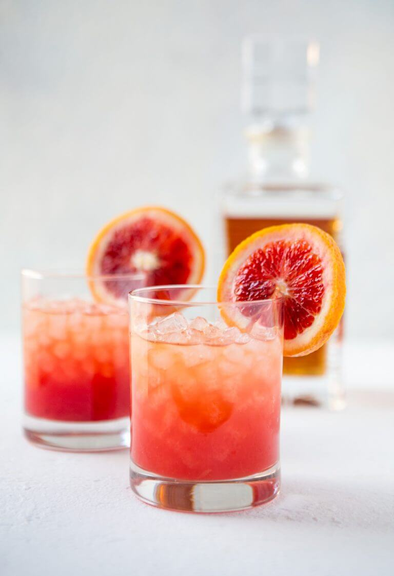 Blood Orange Whiskey Cocktail