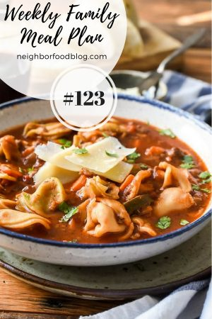 Weekly Family Meal Plan 123 | NeighborFood