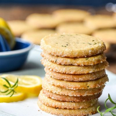 Stack of Lemon Rosemary Butter Cookies