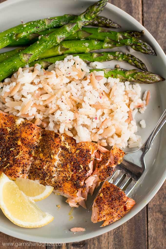 20 Minute Simple Salmon and Asparagus