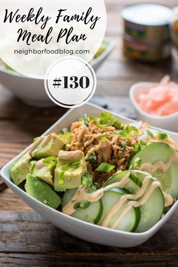 Weekly Family Meal Plan 130 | NeighborFood