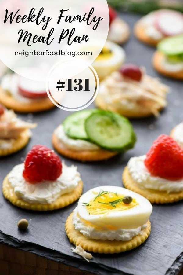 Weekly Family Meal Plan 131 | NeighborFood