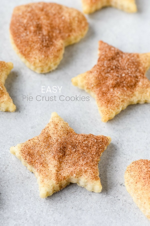 star and heart cut out pie crust cookies
