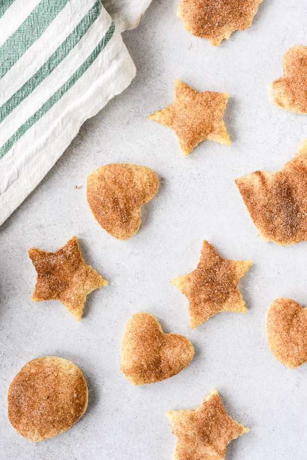 Pie Crust Cookies in stars and hearts