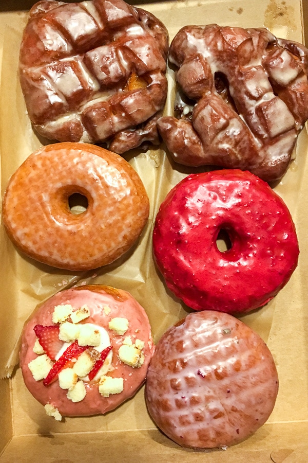 Box of donuts from Glazed in Charleston