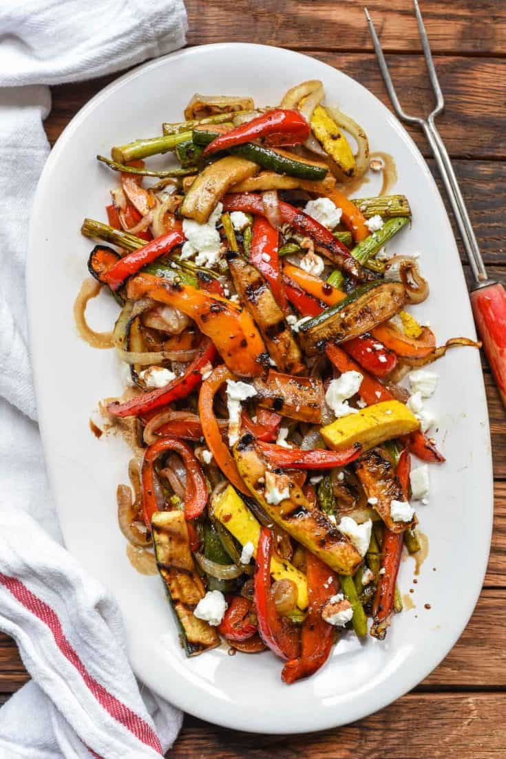 Balsamic Grilled Vegetables With Goat Cheese Neighborfood