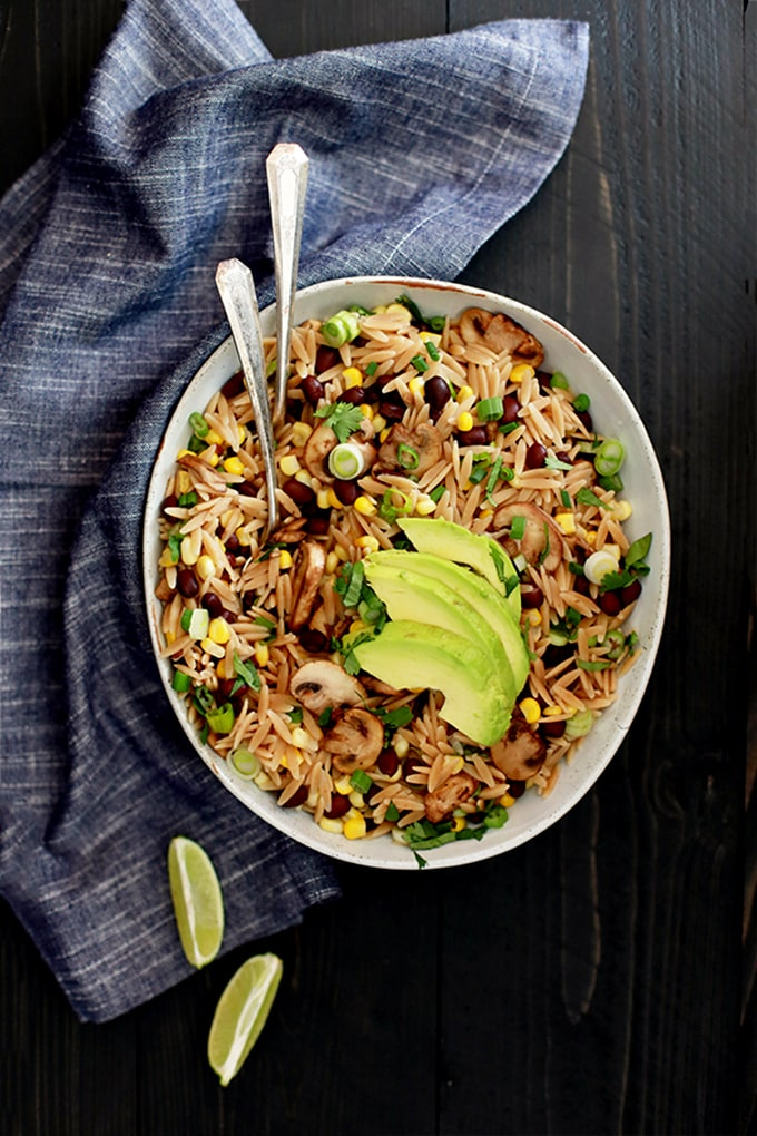 Orzo and Black Bean Salad