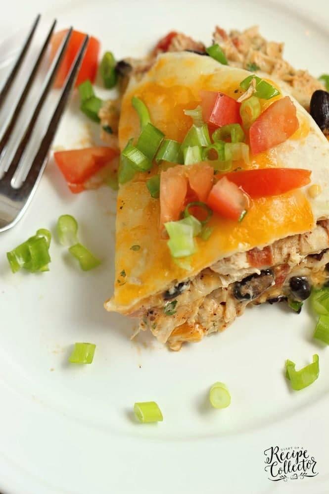 Santa Fe Chicken Enchilada Stack