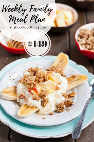 Weekly Family Meal Plan 149
