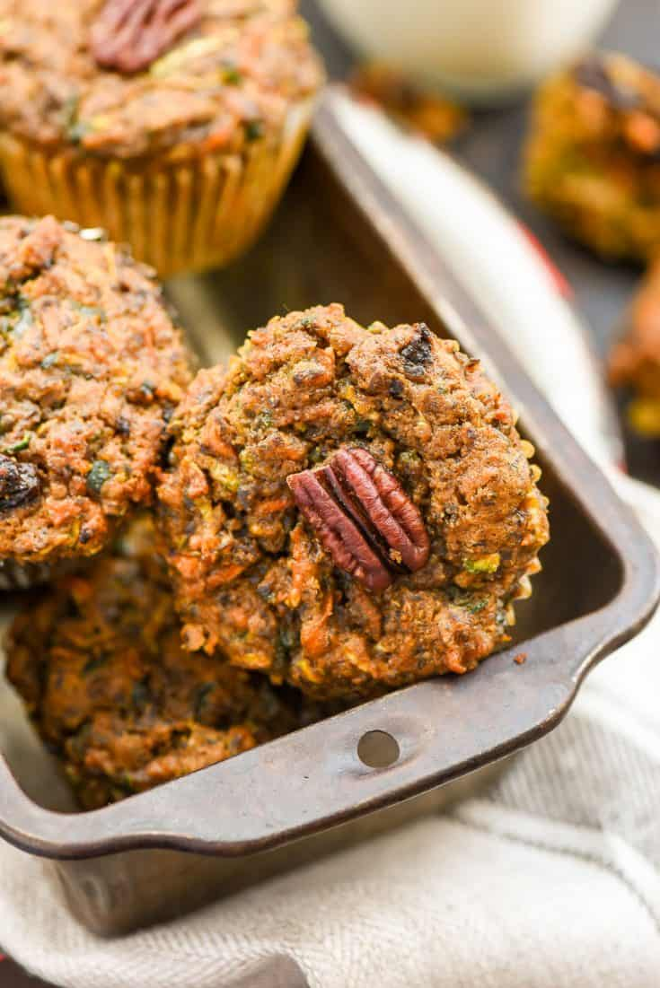 Breakfast- Carrot Zucchini Muffins
