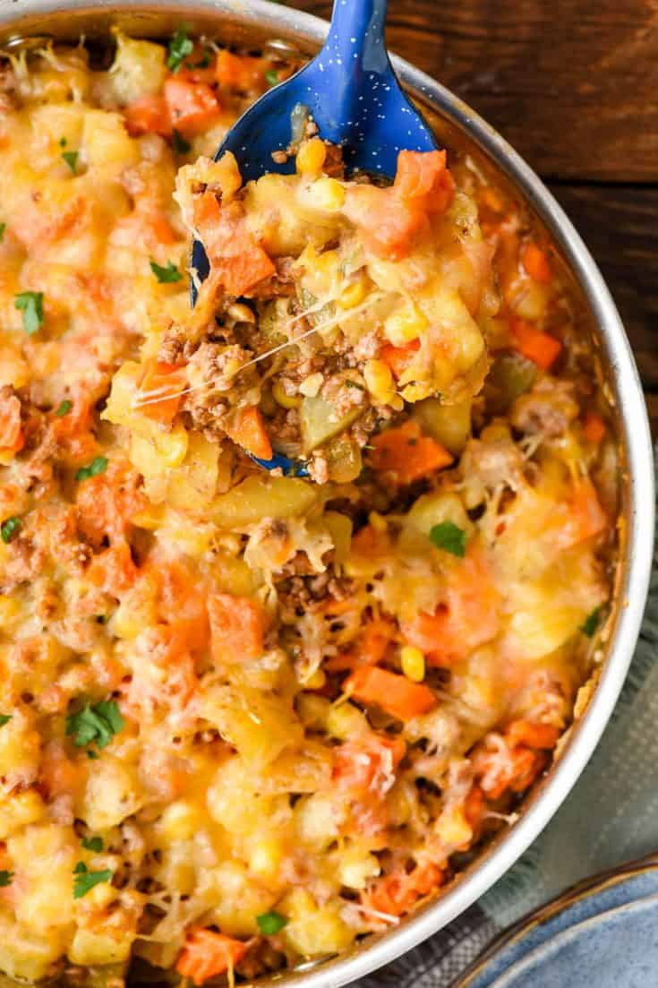 Ground Beef and Potatoes Skillet