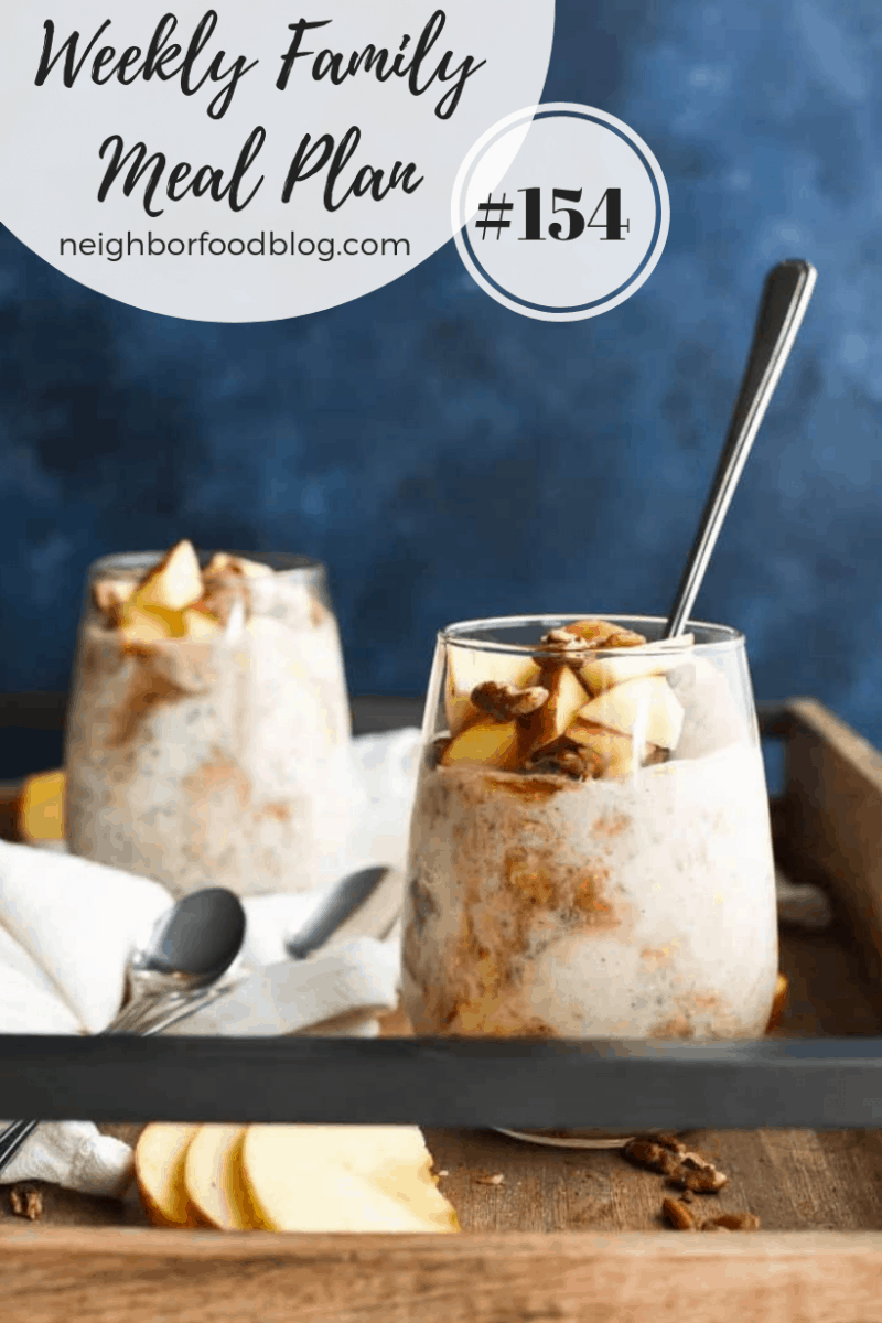 Weekly Family Meal Plan 154