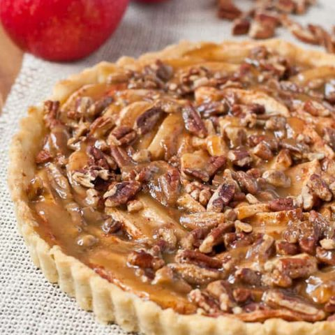 Caramel Apple Pecan Tart