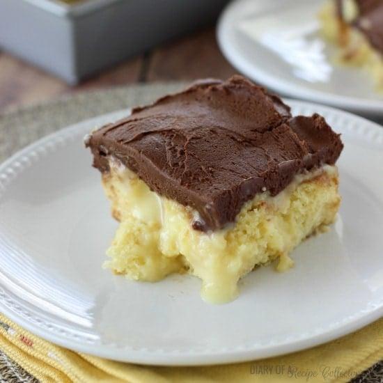 Maple Cream Poke Cake