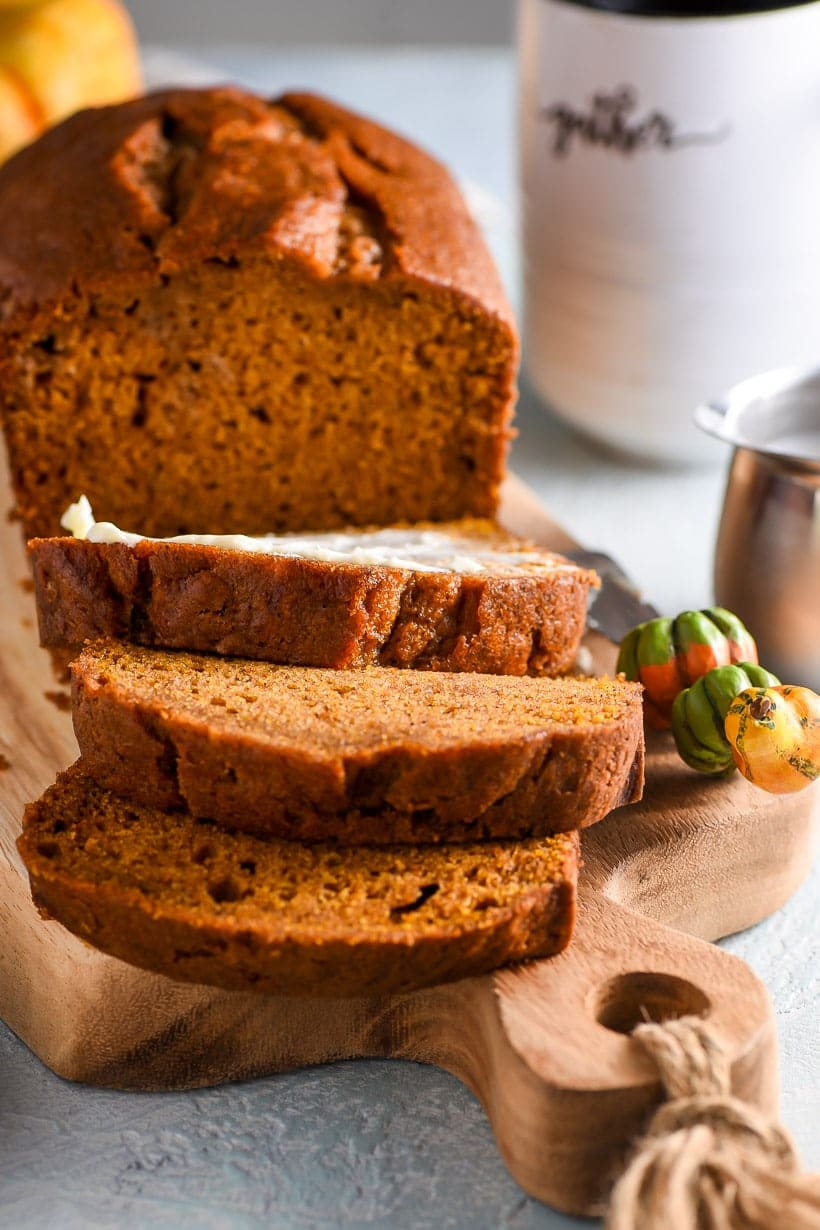 Slices of Easy Pumpkin Bread