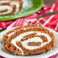 Pumpkin Cream Cheese Roll Recipe (MA, V)