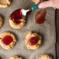 Peanut Butter Thumbprint Cookies with Jam