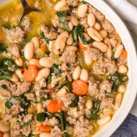 Italian Sausage Soup with White Beans