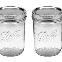 Ball Jar with Lid and Band (16 oz) Pack of 2