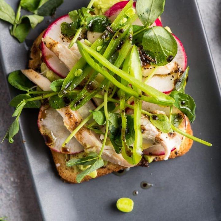 Springtime Avocado Toast with Radish