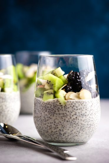 Overnight Chia Pudding in a glass