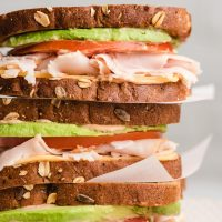 Turkey Avocado Sandwich with Chipotle Mayo