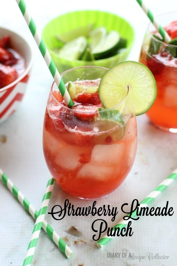 DRINK: Strawberry Limeade Punch - Diary of A Recipe Collector