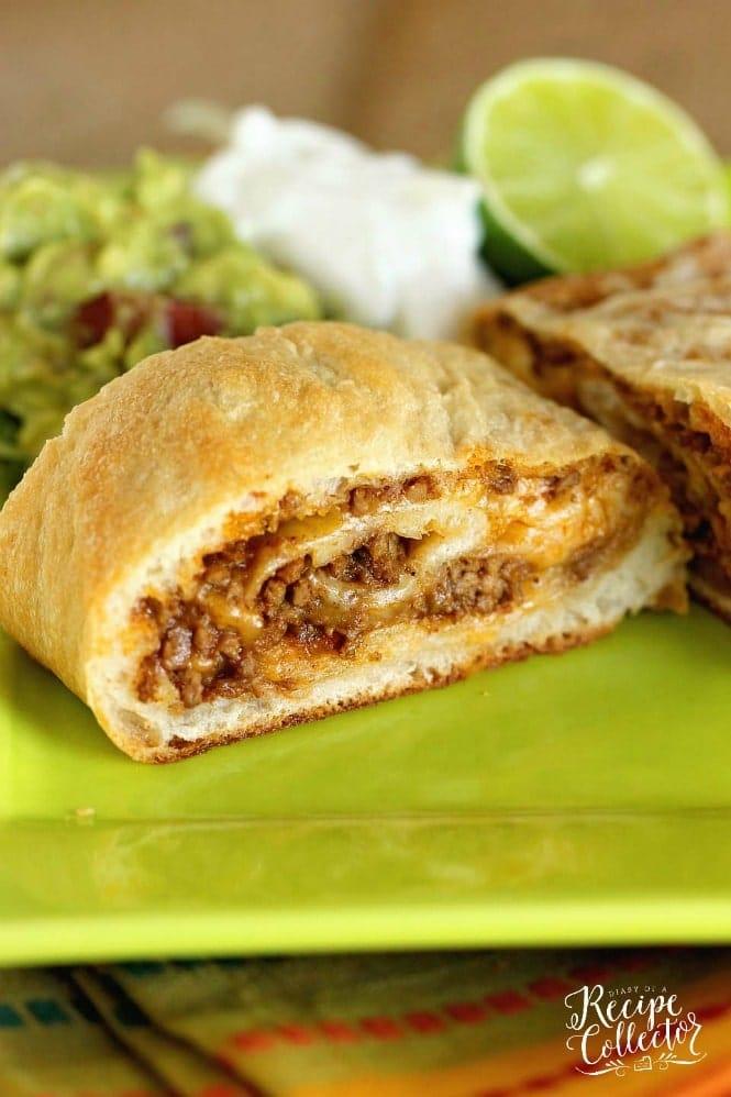THURSDAY: Taco Calzones - Diary of A Recipe Collector