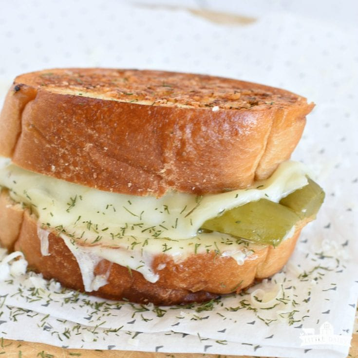 LUNCH- Dill Pickle Grilled Cheese Sandwich