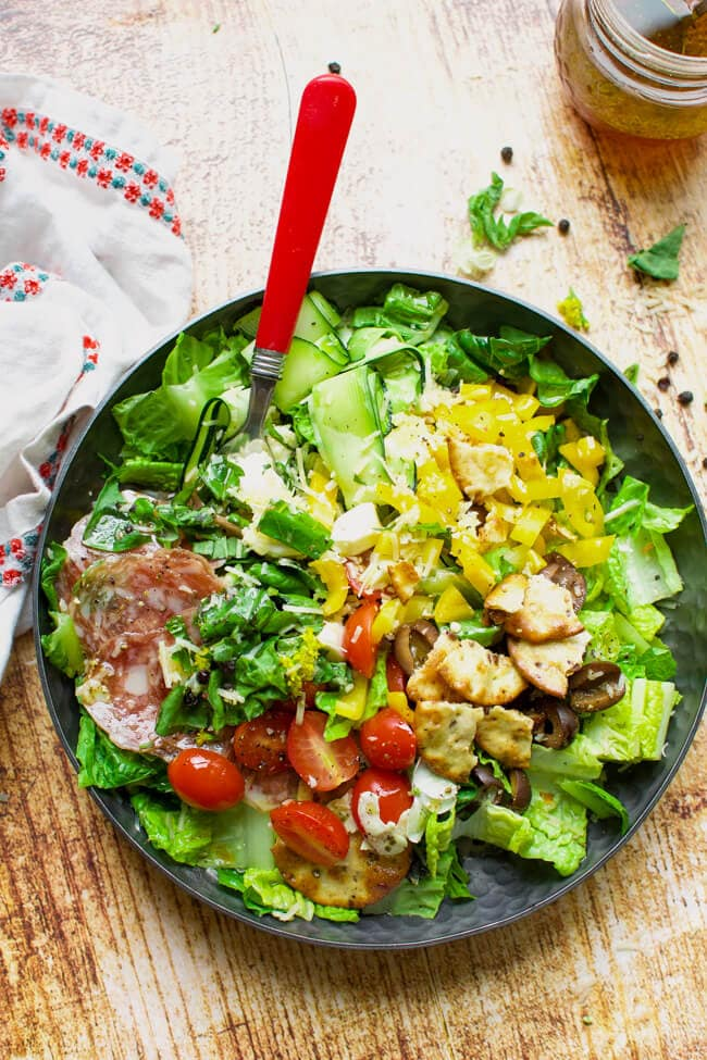 Friday: Pizza Salad with Vinaigrette- Little Dairy On the Prairie