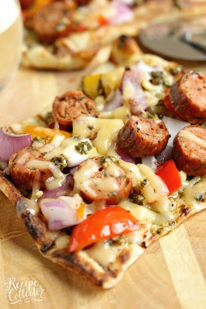 Tuesday: Grilled Sausage and Pepper Pizza