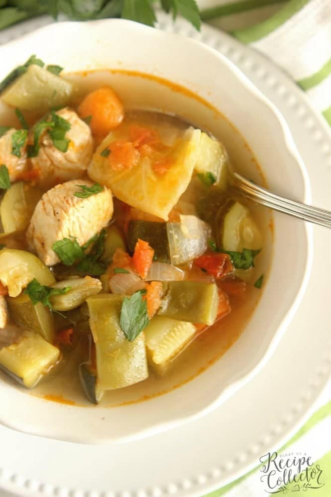 Tuesday- Skinny Chicken Vegetable Soup