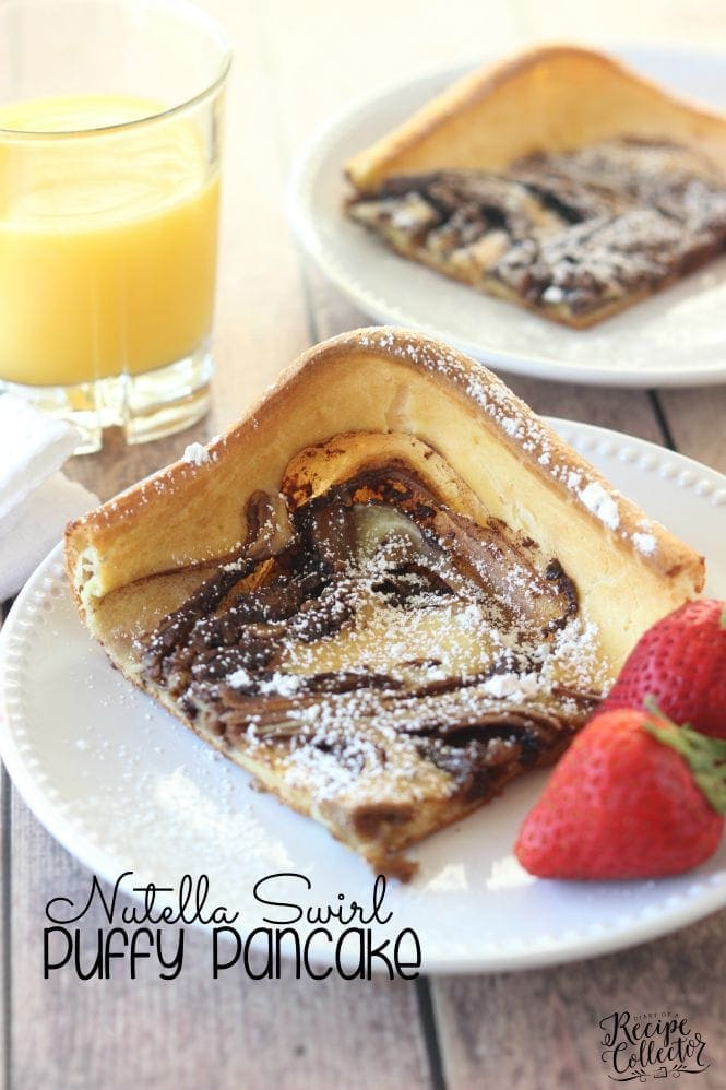 Breakfast: Nutella Swirl Puffy Pancake- Diary of a Recipe Collector