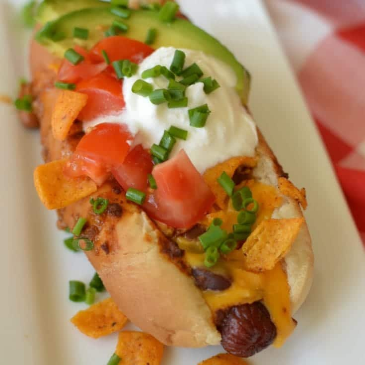 Friday: Loaded Cheesy Chili Dogs