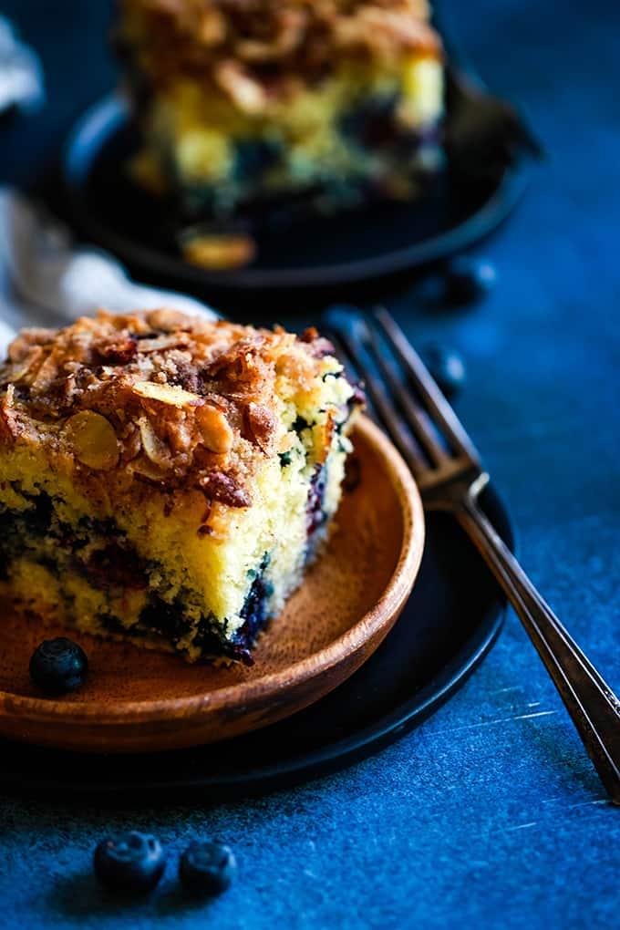 Breakfast: Blueberry Lemon Almond Coffee Cake - Melanie Makes