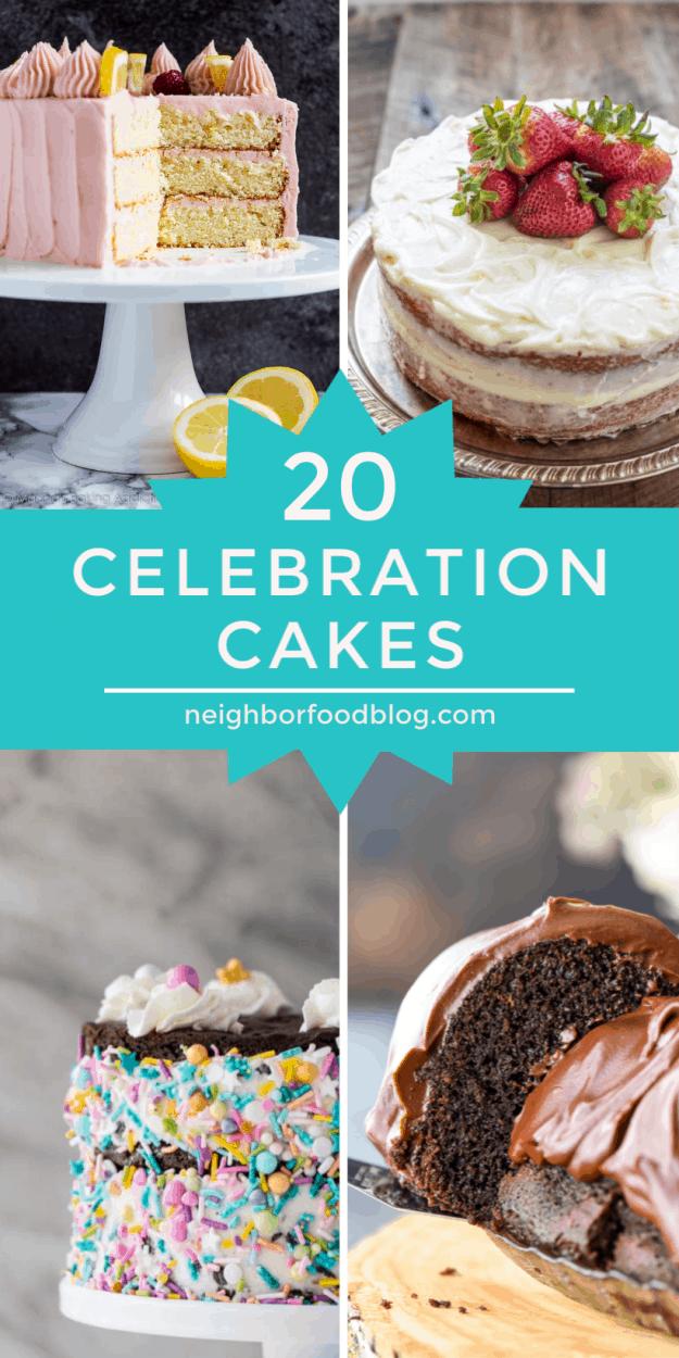 roundup of 20 celebration cakes
