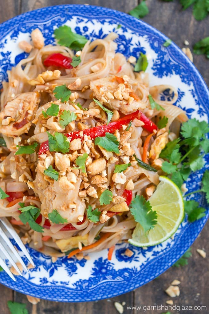 Wednesday: Chicken Pad Thai - Garnish and Glaze