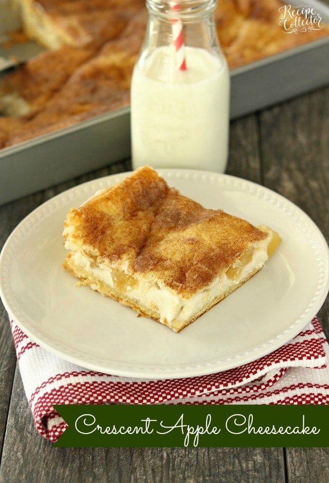 Dessert: Crescent Apple Cheesecake - Diary of A Recipe Collector